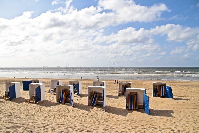 Scheveningen strand i Nederländerna arkivbild