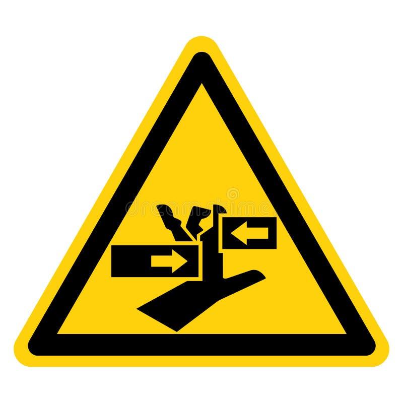 Schiacci il segno da sinistra a destra di simbolo della mano, l'illustrazione di vettore, isolato sull'etichetta bianca del fondo royalty illustrazione gratis