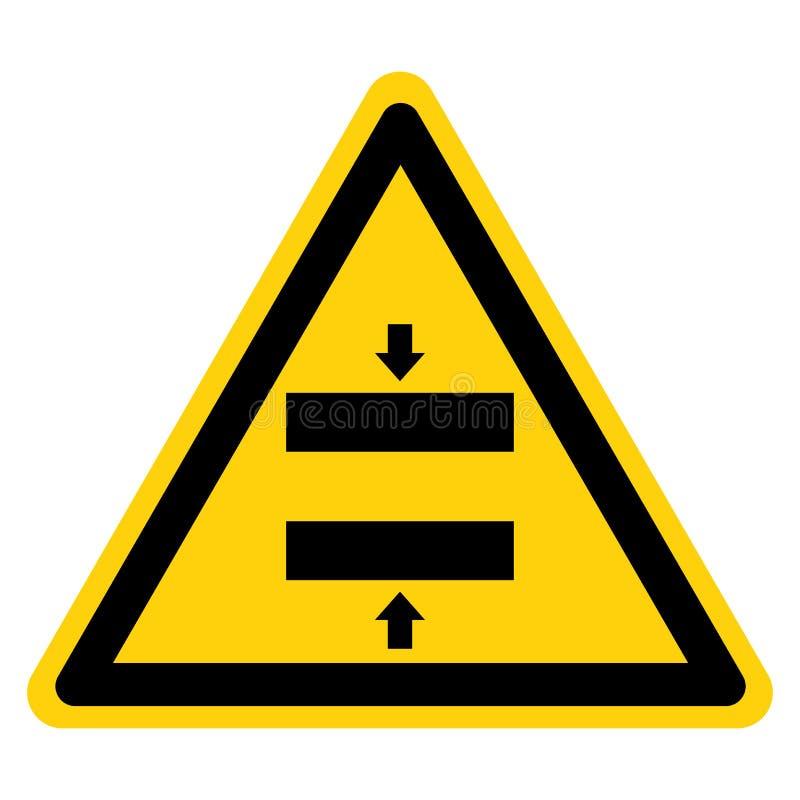 Schiacci il segno di chiusura di simbolo della muffa di rischio, l'illustrazione di vettore, isolato sull'etichetta bianca del fo illustrazione vettoriale