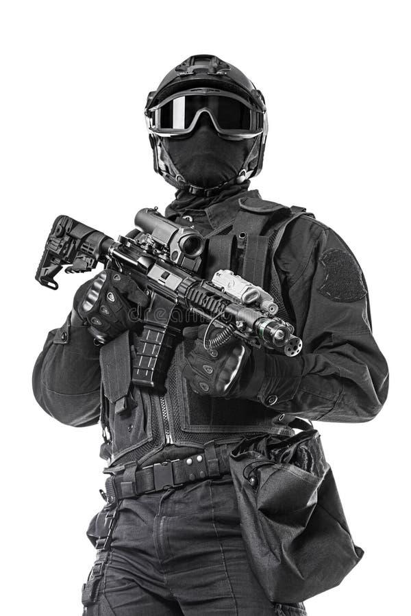 SCHIAFFO dell'ufficiale di polizia fotografia stock