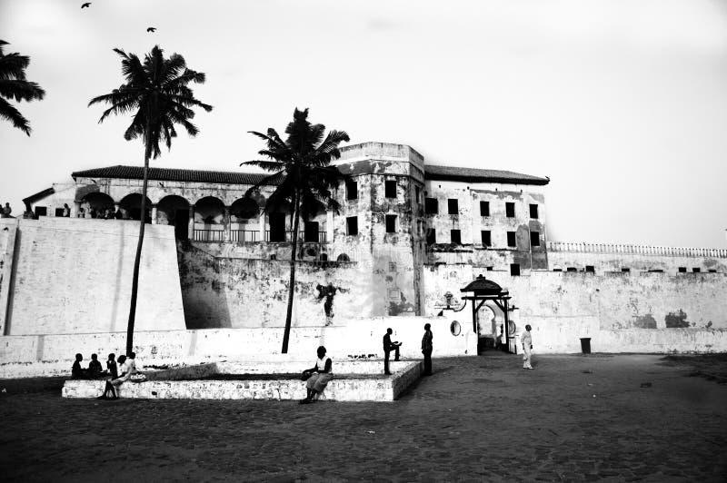 Schiavo Castle di Elmina nel Ghana fotografia stock libera da diritti