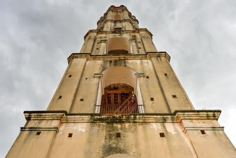 Schiavo Watch Tower - Manaca Iznaga, Cuba fotografia stock libera da diritti