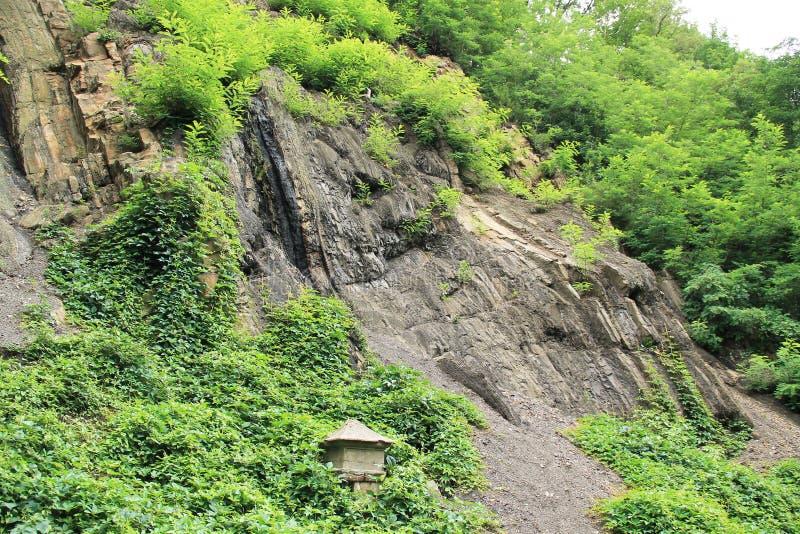 Schicht Kohle im Felsen lizenzfreies stockbild