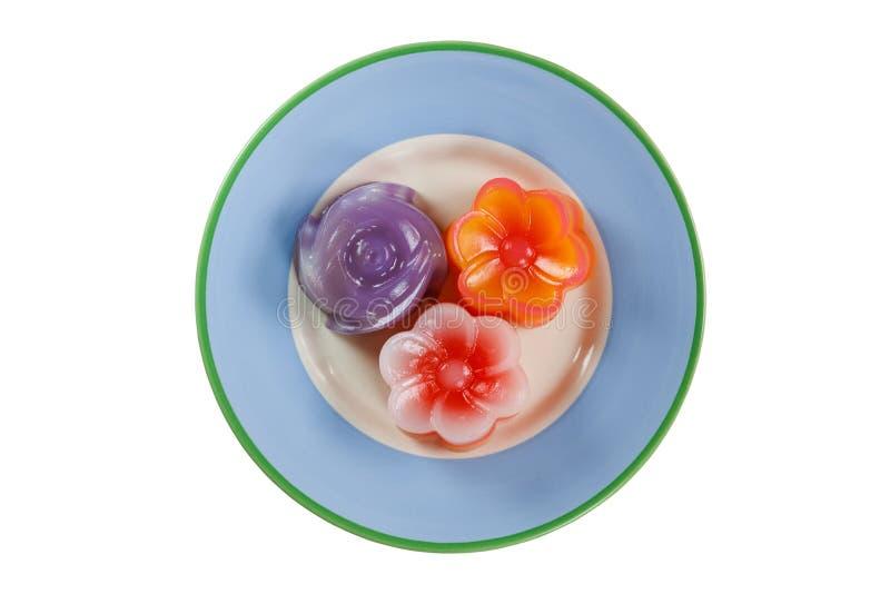 Schicht-süßer Kuchen Thailändischer gebürtiger alter Nachtisch stockfotos