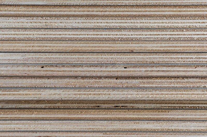 Schicht Sperrholz in der Baustelle als Hintergrund stockfotos