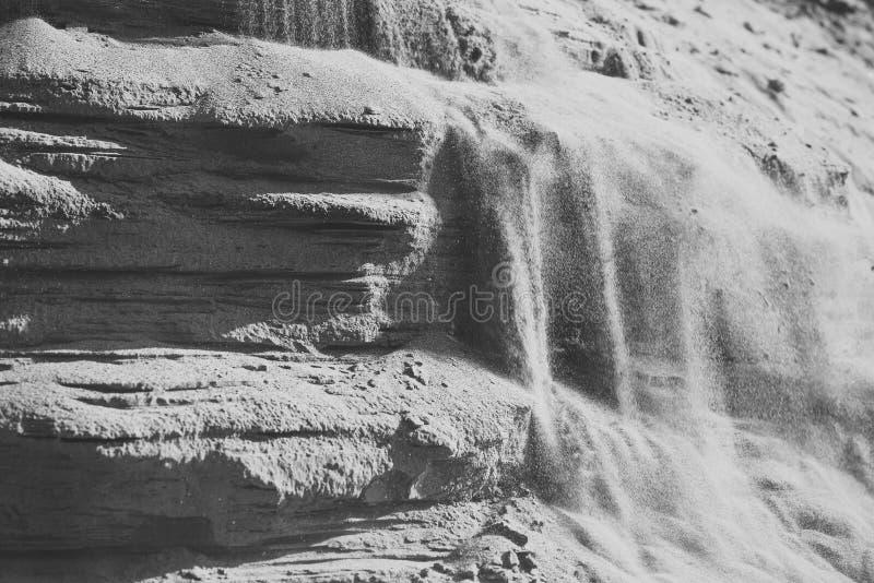 Schicht Steinsandbodenbeschaffenheit lizenzfreies stockbild