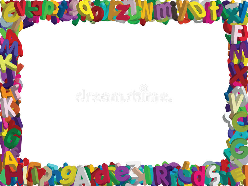 Vektor des Alphabetes 3D Grenz lizenzfreies stockfoto