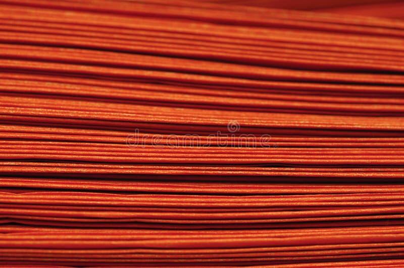 Schichten orange Säcke stockfotografie