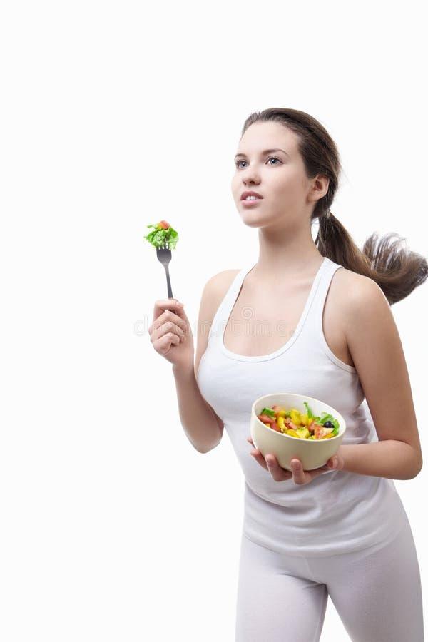 Schicken Sie zu einer gesunden Diät nach stockfotografie