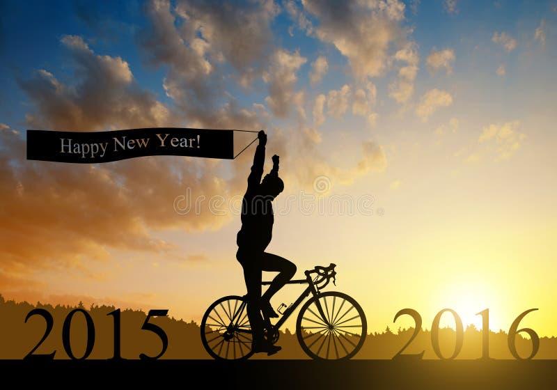 Schicken Sie zum neuen Jahr 2016 nach lizenzfreie stockfotos