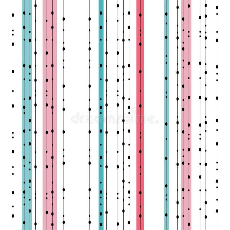 Schickes nahtloses Retro- farbiges ovales Girlandenmuster Endlose Beschaffenheit für Tapete, Webseite, Textildesign, Packpapier lizenzfreie abbildung