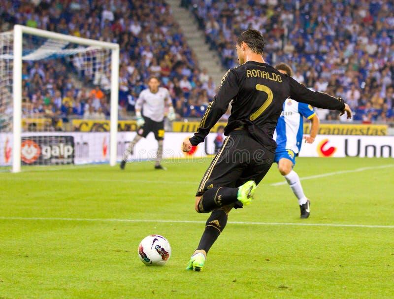 Schießen Cristiano-Ronaldo lizenzfreie stockfotografie
