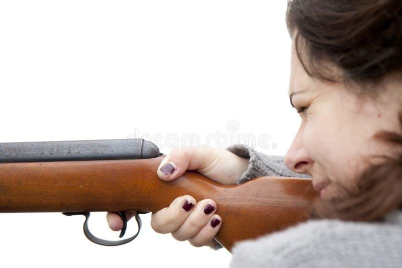 Schießen mit Luftgewehr lizenzfreies stockfoto