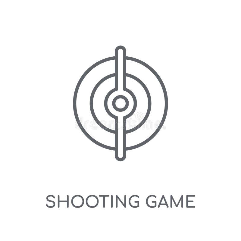 Schießende lineare Ikone des Spiels Moderner Entwurf Schießenspiel-Logobetrug vektor abbildung