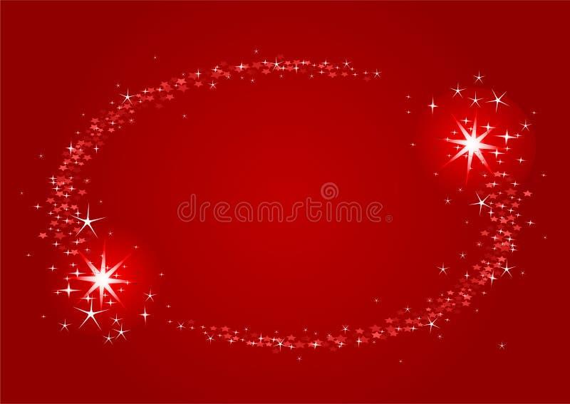Schießensterne Weihnachtsfeld stock abbildung