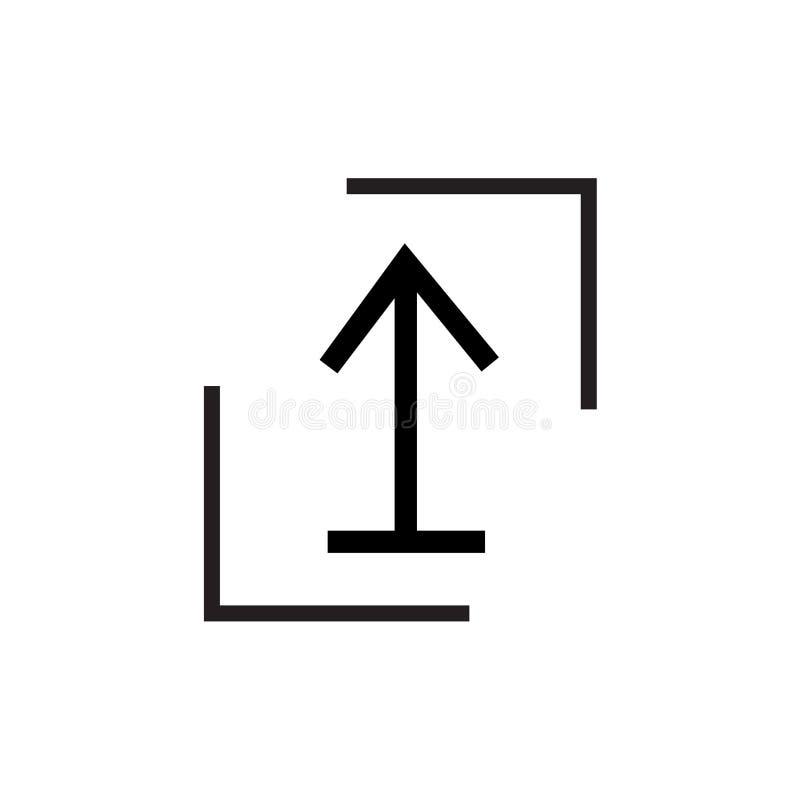 Schiebeikonenvektorzeichen und -symbol lokalisiert auf weißem Hintergrund, Schiebelogokonzept lizenzfreie abbildung
