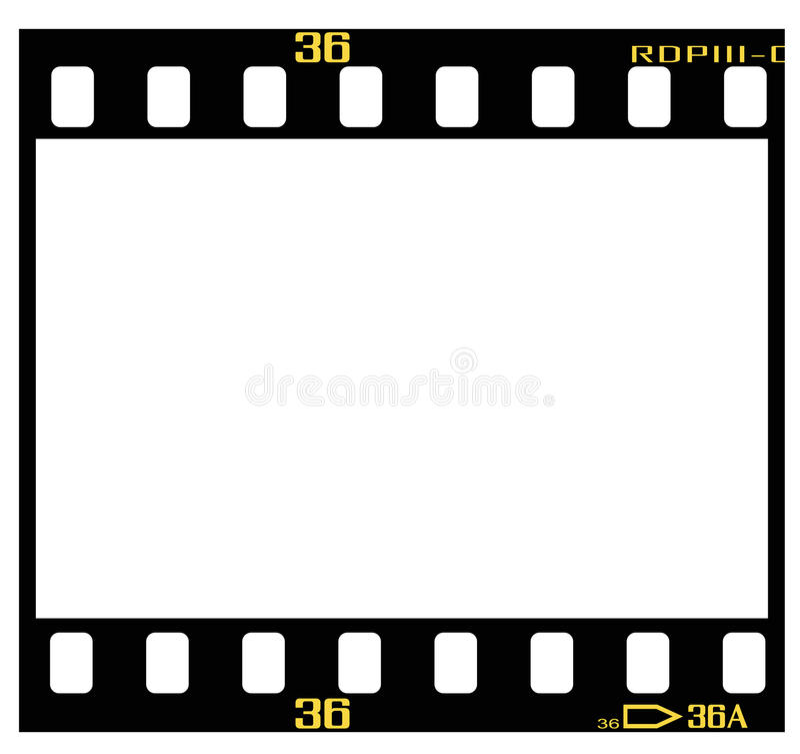 Schieben Sie Filmfeld stock abbildung