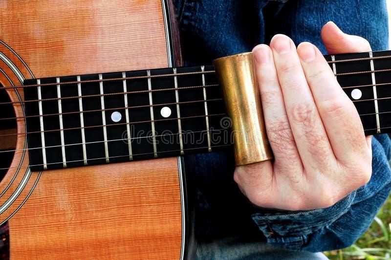Schieben Sie Gitarre lizenzfreie stockfotos