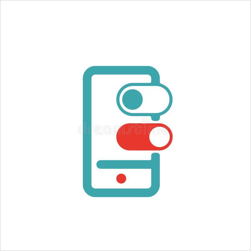 Schieben Sie, um zu entriegeln oder Verschlussknopf auf Smartphoneschirmvektor lizenzfreie abbildung