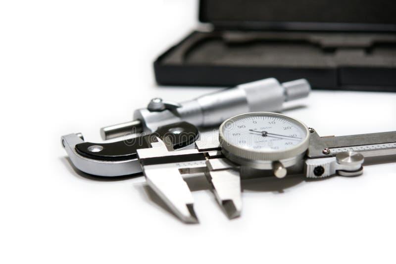 Schieber und Mikrometer stockfoto