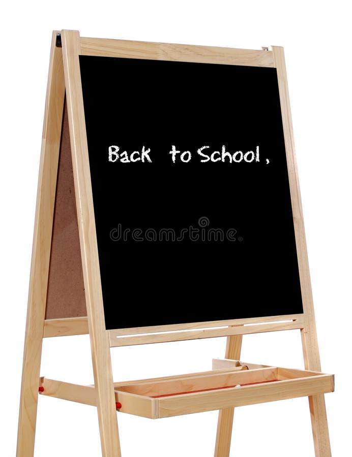 Schiefer geschrieben mit den Wörtern: zurück zu Schule lizenzfreie stockfotos
