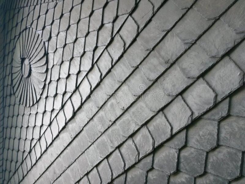 Schiefer-Wandverkleidungen der Arty handgemachte lizenzfreie stockfotografie