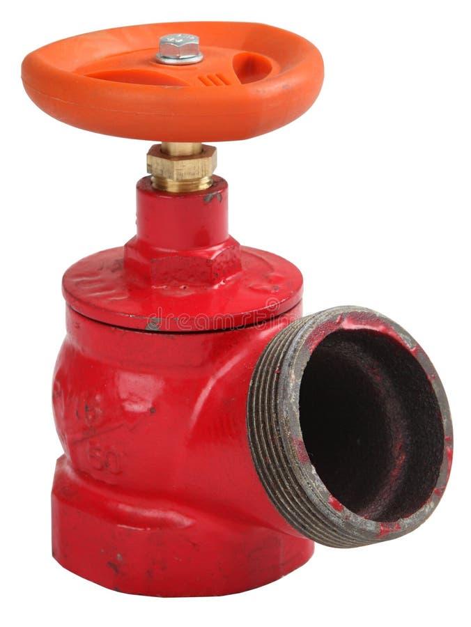 Schiefes Innenhydrantventil des roten Eisens mit Außengewinde lizenzfreies stockbild