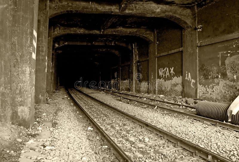 Schienen-Tunnel lizenzfreie stockfotos