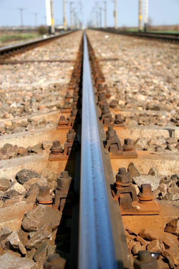 Schienenstrang-Makro lizenzfreie stockfotos