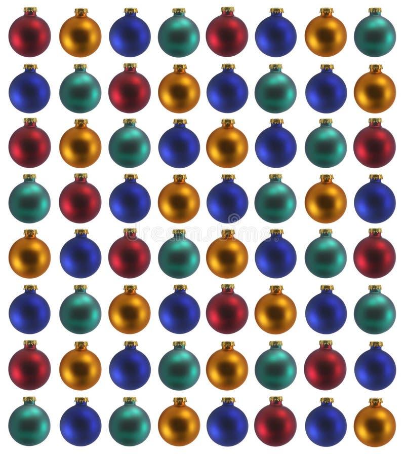 Schiera degli ornamenti dell'albero di Natale fotografia stock