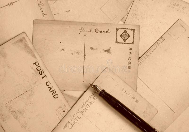 Schiera delle cartoline immagini stock libere da diritti