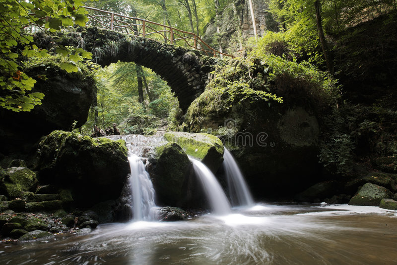 Download Schiessentuempel stock image. Image of nature, bridge - 4579209
