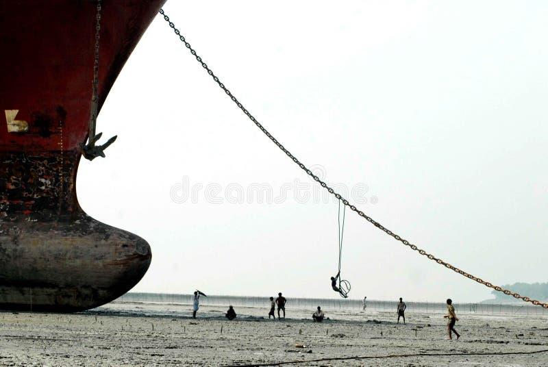 Schiff, das Bangladesch einläuft lizenzfreie stockfotografie