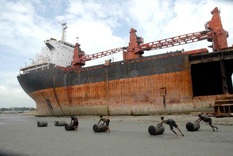 Schiff, das Bangladesch einläuft stockfotografie