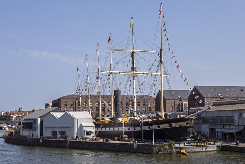 Schiff SS Gro?britannien in Bristol lizenzfreie stockfotografie