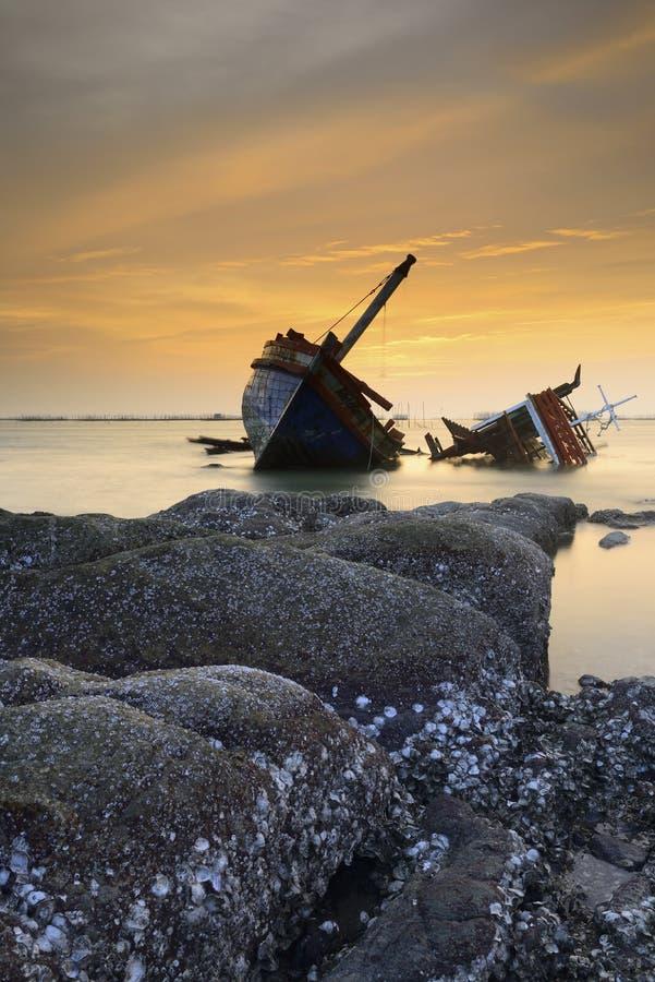 Schiffbrüche; Thailand stockbilder