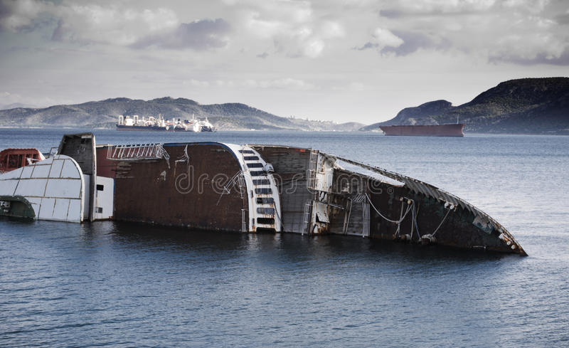 Schiffbruch lizenzfreie stockbilder