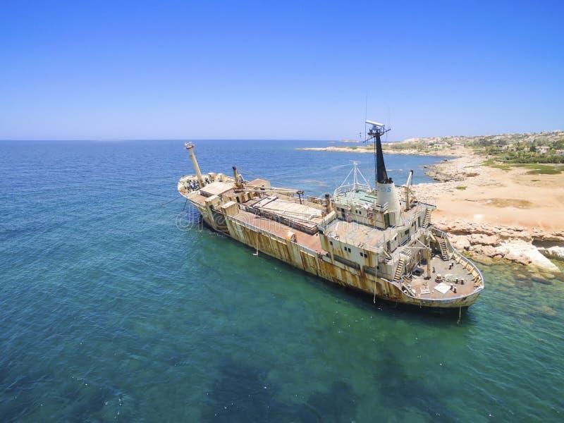 Schiffbruch EDRO III, Pegeia, Paphos stockfotos