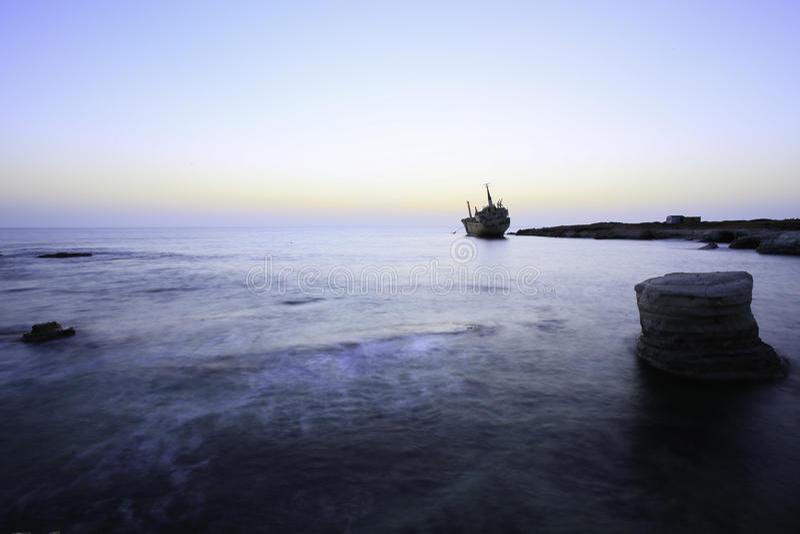 Schiffbruch Erdo III Paphos Zypern lizenzfreies stockbild