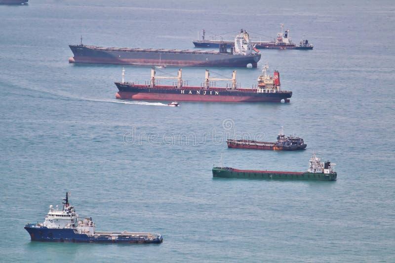 Schiffe im Hafen stockfoto