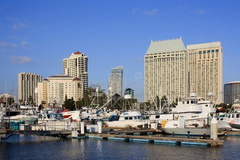 Schiffe in San Diego lizenzfreie stockbilder