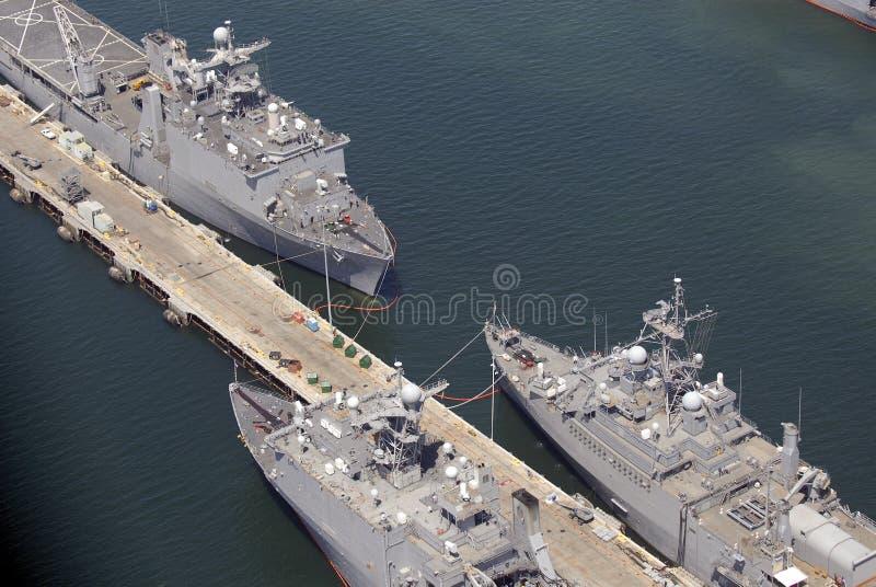 Schiffe in San Diego stockbild