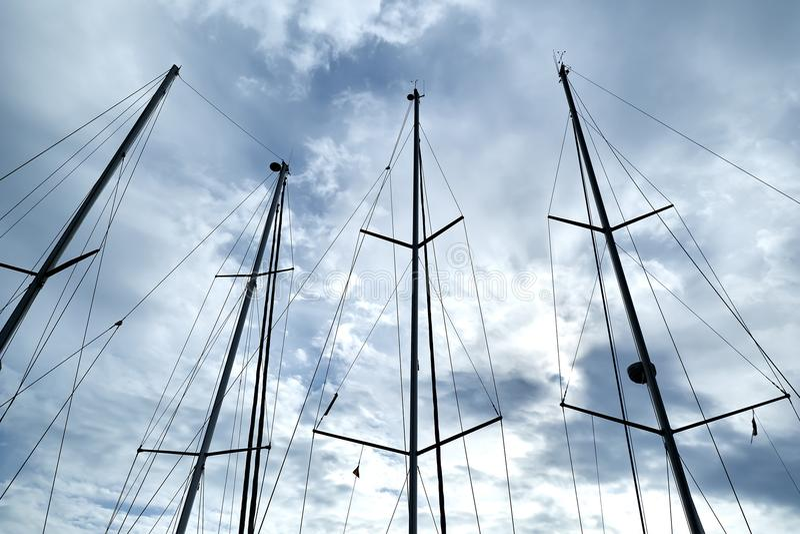 Schiffs-Maste stockbild