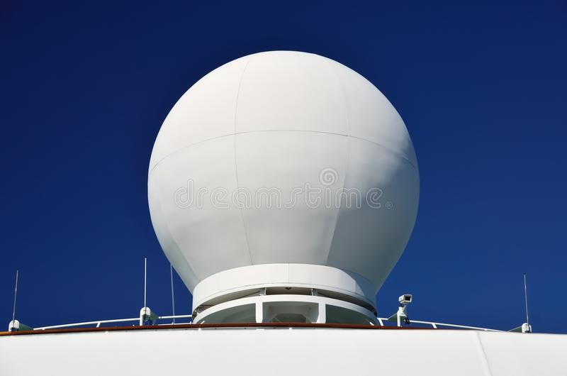 Schiffs-Radar-Haube stockbilder