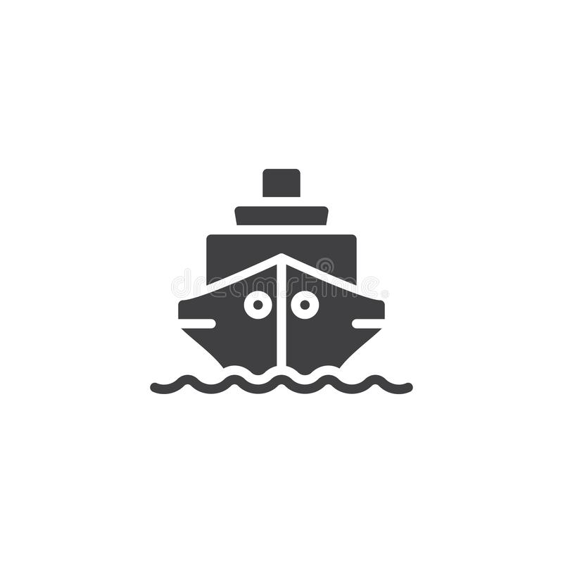 Schiffsboots-Vektorikone lizenzfreie abbildung