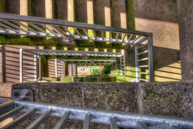 Schiffshebewerk-Treppenhaus im Freien lizenzfreies stockbild