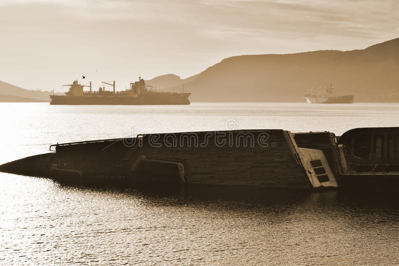 Schiffswrack stockfoto