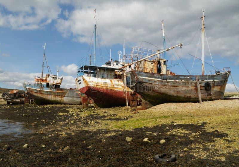 Schiffswracks (Bretagne, Frankreich) stockfoto
