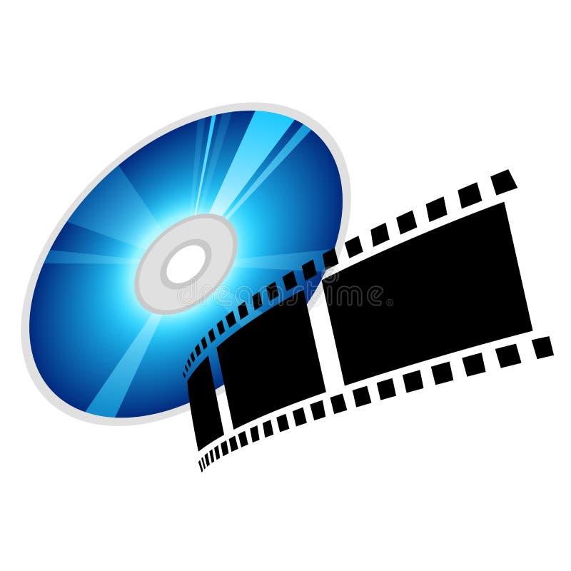 Schijf en film, vector vector illustratie