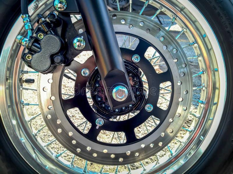 Schijfrem van Motorfiets royalty-vrije stock afbeelding